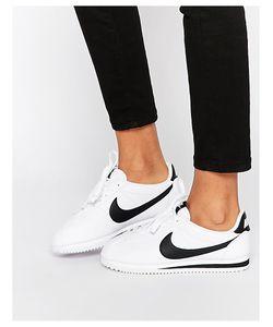 Nike | Белые Кожаные Кроссовки Cortez Белый