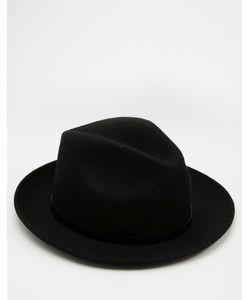Catarzi | Мягкая Фетровая Шляпа Черный