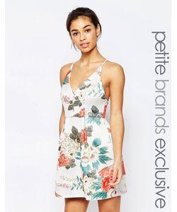 True Decadence Petite | Платье Для Выпускного Из Парчи С Цветочным Принтом