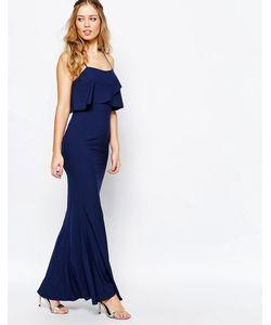 JARLO | Платье Макси Темно-Синий
