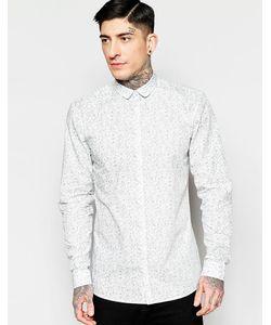 Minimum | Рубашка Классического Кроя С Цветочным Принтом Белый