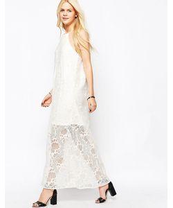 Japonica | Кружевное Платье С Высокой Горловиной Кремовый