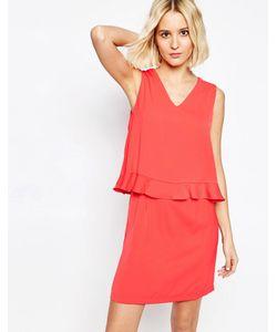 Paisie   Платье С V-Образным Вырезом И Оборками Strawberry