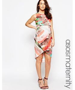 ASOS Maternity | Платье Миди Для Беременных С Абстрактным Принтом В Полоску