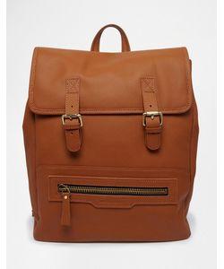 Smith And Canova | Кожаный Рюкзак С Пряжками Рыжий