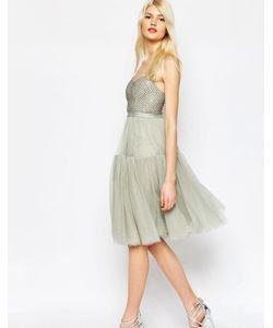 Needle & Thread | Пышное Платье Из Тюля С Декоративной Отделкой