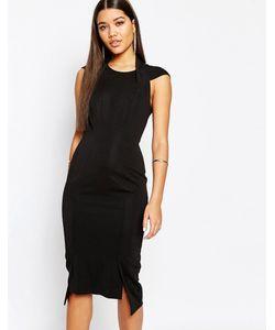 AQ AQ | Платье Миди С Глубоким Vобразным Вырезом Сзади Aqaq Hoven Черный