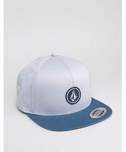 Volcom | Серо-Синяя Саржевая Бейсболка
