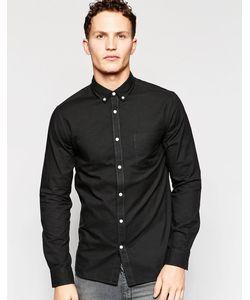 Jack & Jones | Рубашка Зауженного Кроя Premium Черный