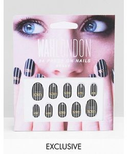 WAH | Накладные Ногти London Bossy Pinstripe