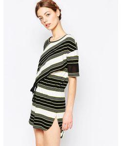 harlyn | Платье С Затягивающимся Шнурком Светло-Зеленая Полоска