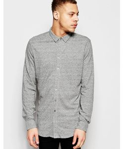 ADPT | Рубашка Классического Кроя Из Ткани Пике Серый
