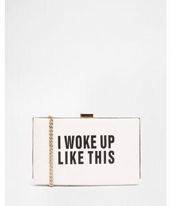 Claudia Canova | Клатч С Надписью I Woke Up Like This