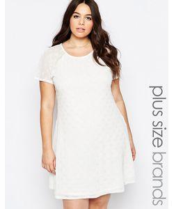 Praslin | Свободное Платье В Горошек Plus Кремовый