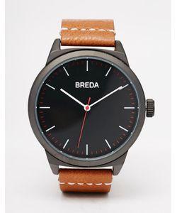 Breda | Часы С Коричневым Кожаным Ремешком И Корпусом 43 Мм