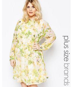 Yumi Plus | Платье С Цветочным Принтом И Бантиком Кремовый