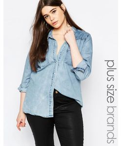 Missguided Plus | Джинсовая Рубашка Синий