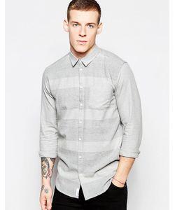 Minimum | Повседневная Рубашка В Крупную Полоску Серый