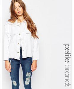 Waven Petite | Укороченная Джинсовая Куртка С Необработанным Краем Hanna Белый