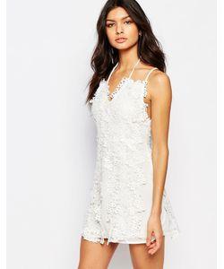 Foxiedox   Платье Мини С Цветочным Кружевом Clover Белый