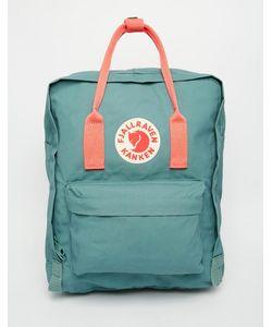 Fjallraven | Классический Зеленый Рюкзак С Контрастной Розовой Отделкой Kanken