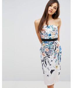 Little Mistress | Платье-Футляр С Цветочным Принтом Многоцветный Цветочный