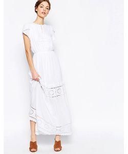 harlyn | Многоярусное Платье Макси Слоновая Кость