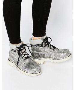 Cat Footwear | Серебристые Кожаные Ботильоны Cat Colorado Burnish Brights Серебряный