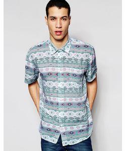 Afends | Рубашка С Короткими Рукавами Sth Wst Синий