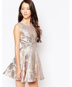 Key Collections | Приталенное Жаккардовое Платье Ashley Roberts For Angelic Розовый