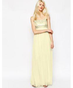 Needle & Thread | Платье Макси Лимонный