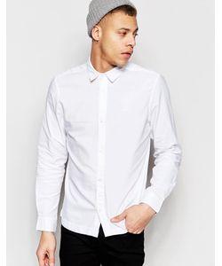 Waven | Белая Оксфордская Рубашка Слим Mimir Белый