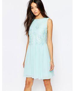 Club L | Короткое Приталенное Платье С Кружевной Отделкой Мятный