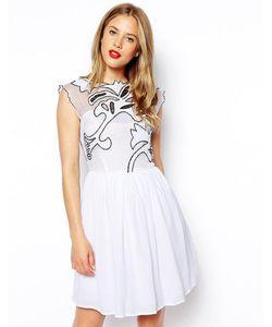 Asos | Платье Для Выпускного Gothic Черно-Белый