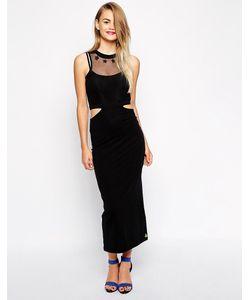Pippa Lynn | Облегающее Платье С Вырезами И Сеткой Черный