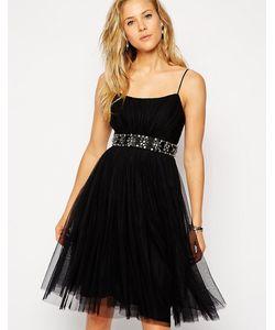 Needle & Thread | Балетное Платье Миди Из Тюля Черный