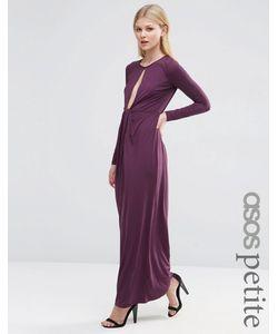 ASOS PETITE | Платье Макси С Глубоким Вырезом Wine