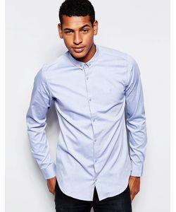 Vito | Оксфордская Рубашка Зауженного Кроя Синий