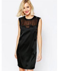 Love Moschino | Черное Платье Без Рукавов С Сердечками Черный