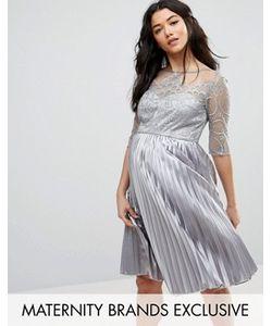 Chi Chi Maternity | Платье С Вышивкой И Юбкой Плиссе Chi Chi London Maternity