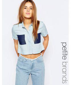 Waven Petite | Укороченная Рубашка Синий