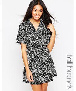 Influence Tall | Платье-Рубашка С Цветочным Принтом И Завязкой На Талии