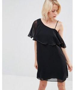 Lavand. | Черное Платье С Рукавом-Бабочка Lavand
