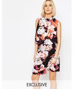 Gestuz | Платье С Высоким Воротом И Цветочным Принтом Aya Розовый