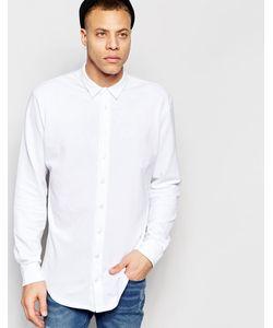 ADPT | Рубашка Классического Кроя Из Ткани Пике Белый