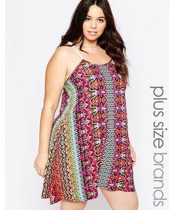 Diya | Платье С Бретельками Кроше Plus Многоцветный Принт