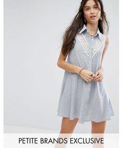 Glamorous Petite | Платье-Рубашка Без Рукавов С Кружевной Вставкой Для Миниатюрных
