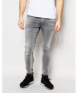 Pepe Heritage | Эластичные Выбеленные Джинсы Скинни Pepe Jeans Finsbury Серый