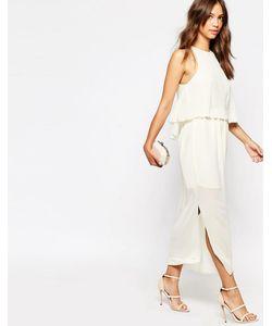 Darccy | Платье Миди С Плиссированным Верхним Слоем На Топе Кремовый