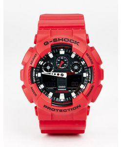 G Shock | Аналоговые Часы G-Shock Ga-100b-4aer Красный